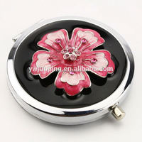 Metal Beautifully Foldable Mirror Compact Pocket Mirror Bling Girl Makeup Mirror HQCM290393