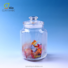 Wholesale Glass Sweets Candy Jars with glass lid