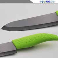 The new 2015 manufacturers selling silicone handle black green household ceramic kitchen knife sharp