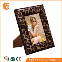 Hot Selling 2016 Leopard Design Leather women sex photo frame