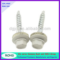 Hex head self drilling screws with wing and EPDM washer