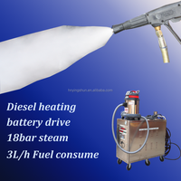 CE approved 18 bar diesel type mobile high pressure steam cleaning machine