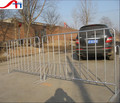 Galvanized flat feet construction barricade/used crowd control barrier