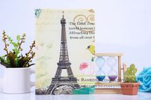 Leather Retro Smart Magnetic Folio Case Cover for iPad 2 3 4 Air with Pairs Eiffel Tower Design