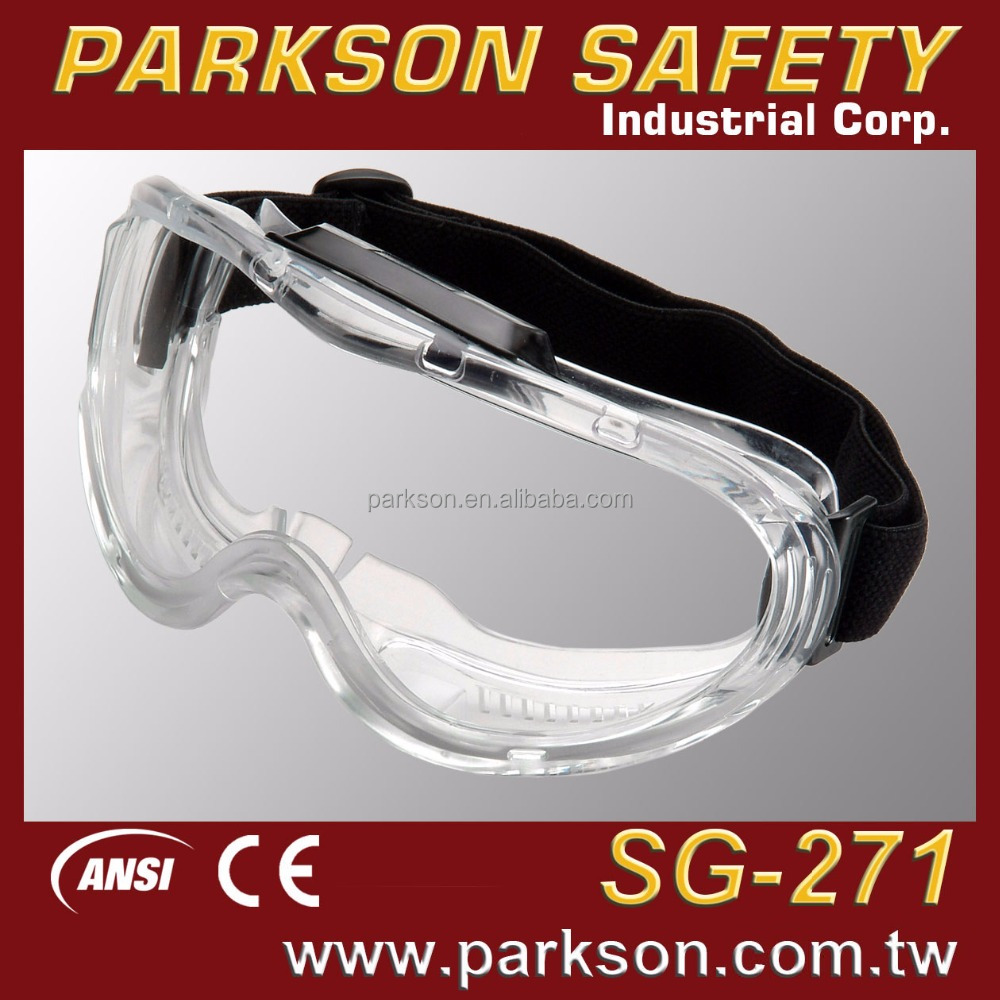 PARKSON SAFETY Taiwan Hospital School Personal Eye Protective Spherical PC Lens Goggles CE EN166 ANSI Z87.1 SG-271