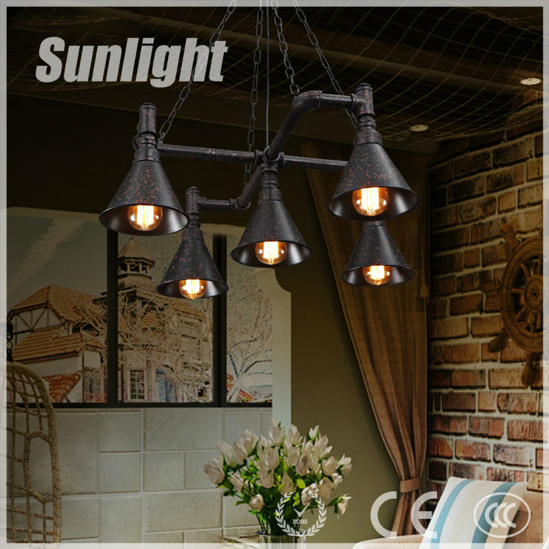 American modern style fashion art creative water pipe industrial Iron vintage pendant lamp/light