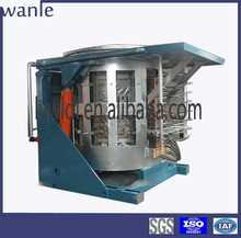 5T steel scrap medium frequency induction melting oven for steel foundry