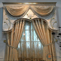 Luxurious ready made curtain/china curtain lace fabric blinds