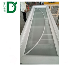 aluminum profile door frame glass insert sliding style decorative metal building door