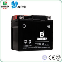 high performance 12v 5ah motors battery YTX5L for suzuki three wheel