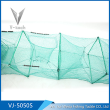 Durable foldable 5m pe square mesh screen shrimp trap with frame