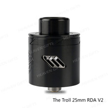 100% Authentic Height 21.5mm WOTOFO The Troll 25mm RDA V2 e cig tank