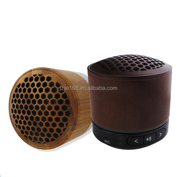 Hand-free Wireless Wooden Mini wireless Speaker 2017
