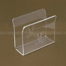 Engraved Acrylic Napkin Stand Clear Paper Hand Towels Rack Card Holder