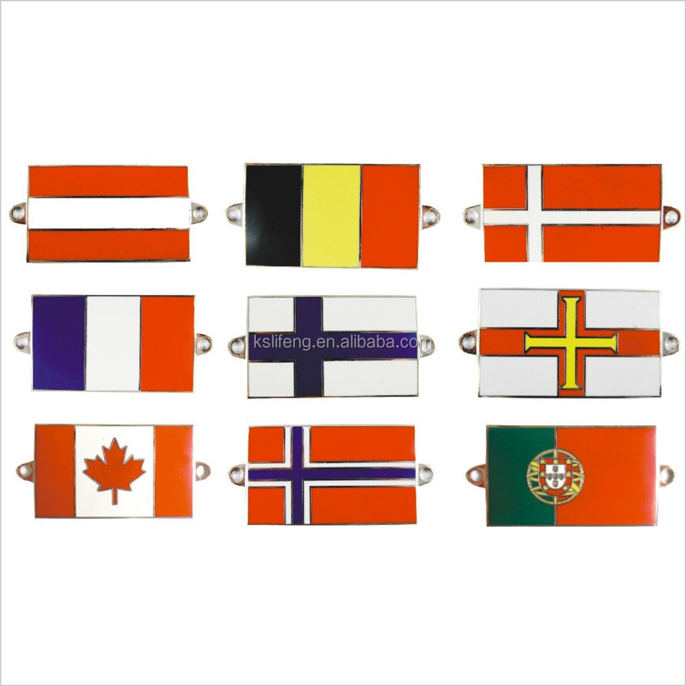 Wholesale Imitation Plating <strong>Metal</strong> flags all countries