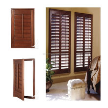 Wooden plantation shutters for windows antique basswood shutter