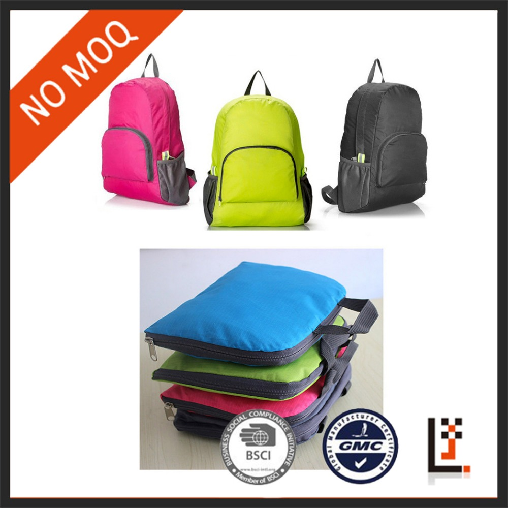 stock cheap portable outdoor nylon waterproof foldable travel <strong>backpack</strong> for promotion