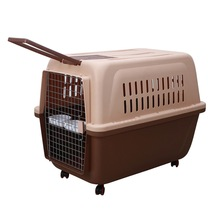 Rolling Dog Car Carrier Toy Travel Pet Carrier / Plastic Dog Travel Crates For Sale