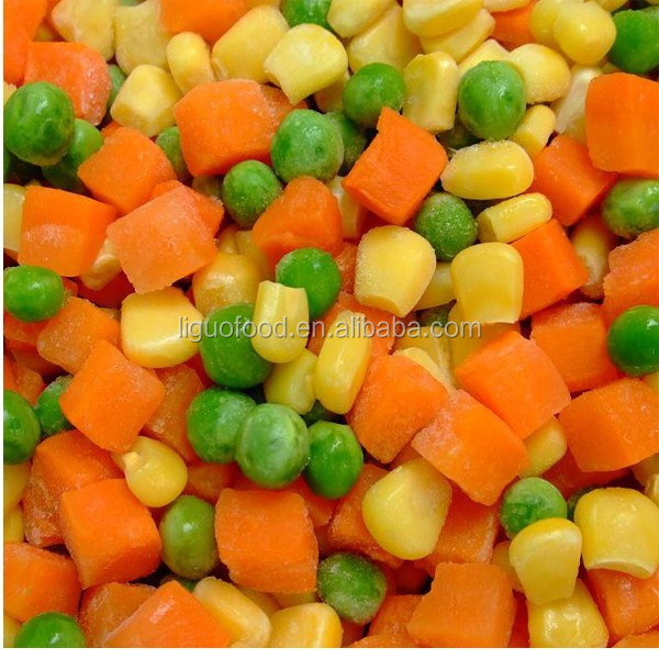 Frozen mixed vegetables for frozen food