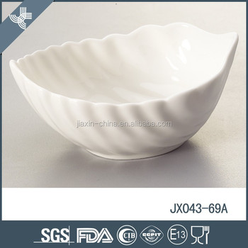 Leaf shape snack dish custom printed chinese ceramic bowls