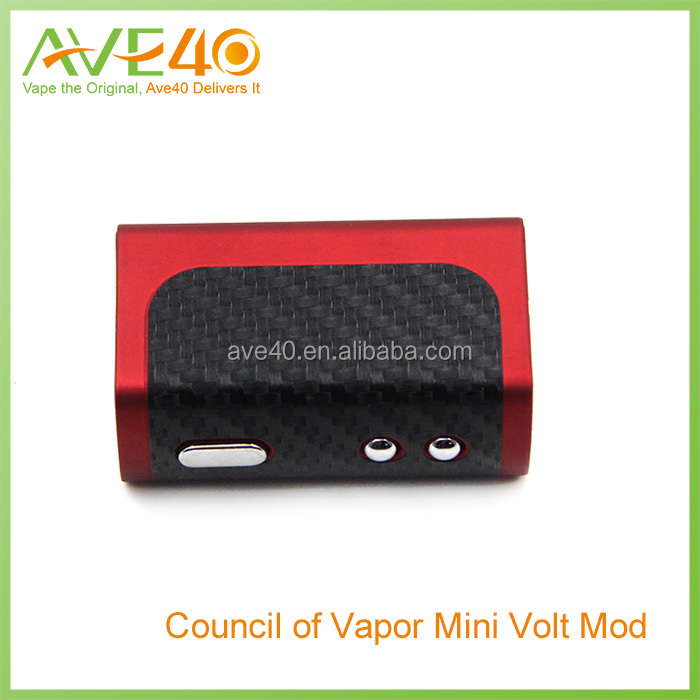 Ave40 Wholesale Authentic council of vapor mini volt mod 1300mAh Battery ecig mini volt 40w kit