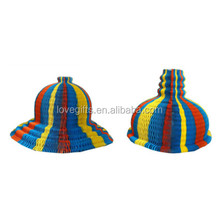 Magic Vase Paper Hats Handmade Folding Hat for Party Decorations Funny Paper Caps Travel Sun Hats Colorful
