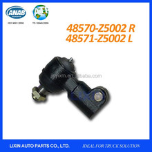 Steering ram ball joint cylinder rod ends for Nissan UD CMF88 with 48570-Z5002 48571-Z5002