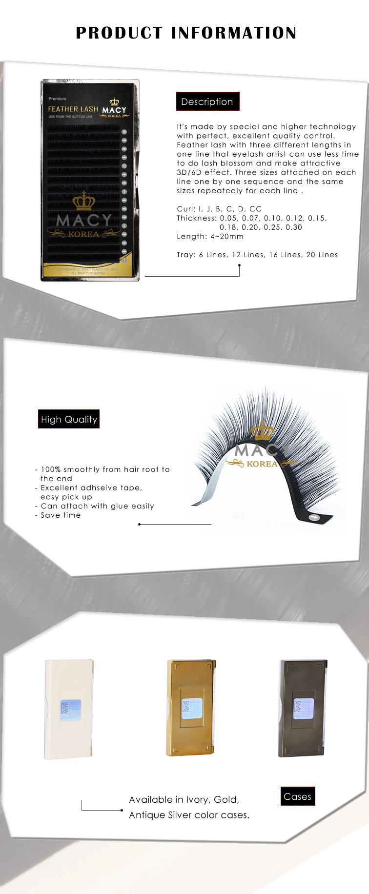 M acy Super Gold Feather Lash