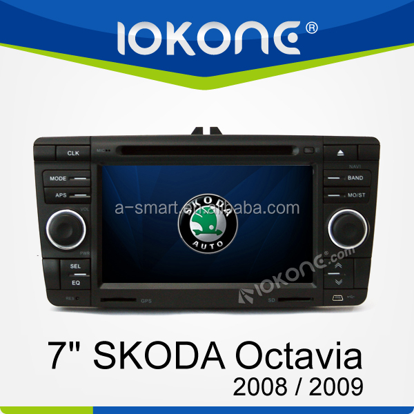 Support Digital TV 7inch HD Touch Screen In Dash 2Din Car dvd player with GPS for Skoda Octavia 2008 / 2009