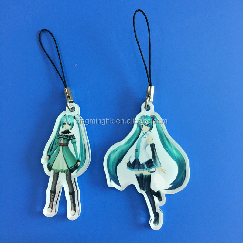 Acrylic Printed Mobile Phone Charm, Phone Strap, Ornaments for Mobile Phones
