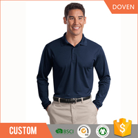 Custom original long sleeve mens polo t-shirts