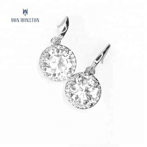 Shenzhen Jeweler earings ladies round zircon designs earrings pictures