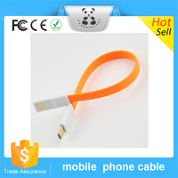 2016 New Design Colorful Mini Flat Magnetic USB Cable Data line Noodle Charging USB Cable For Iphone