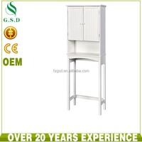 wholesale new design white wooden bathroom space saver
