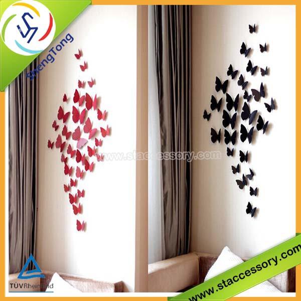 room decor 3d butterfly wall stickers 3d butterfly 3d wall sticker butterfly green yellow butterfly art wall