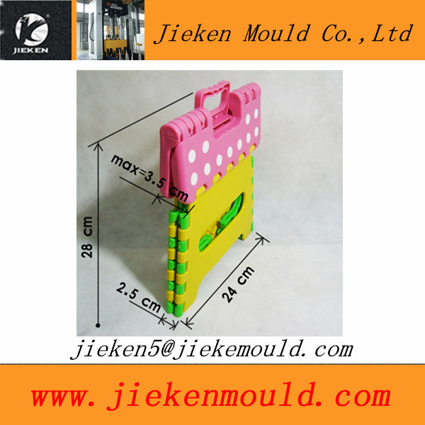 colorful plastic kids folding step stool mould