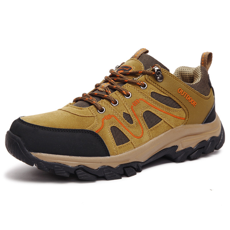 Action Trekking Mountain Outdoor Men Waterproof Leather Hiking Shoes