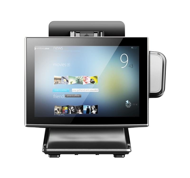 Micropos B15-II Manufacture 15 Inch big stand Touch Screen All In One Pos System With os System All In One