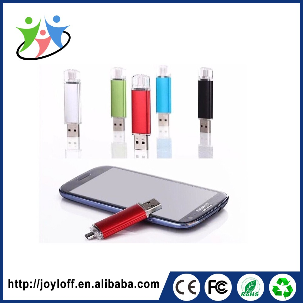 Ex-Factory Price Dual Double Plug Interface Otg Mobile Phone Pc Funny Usb Flash Disk