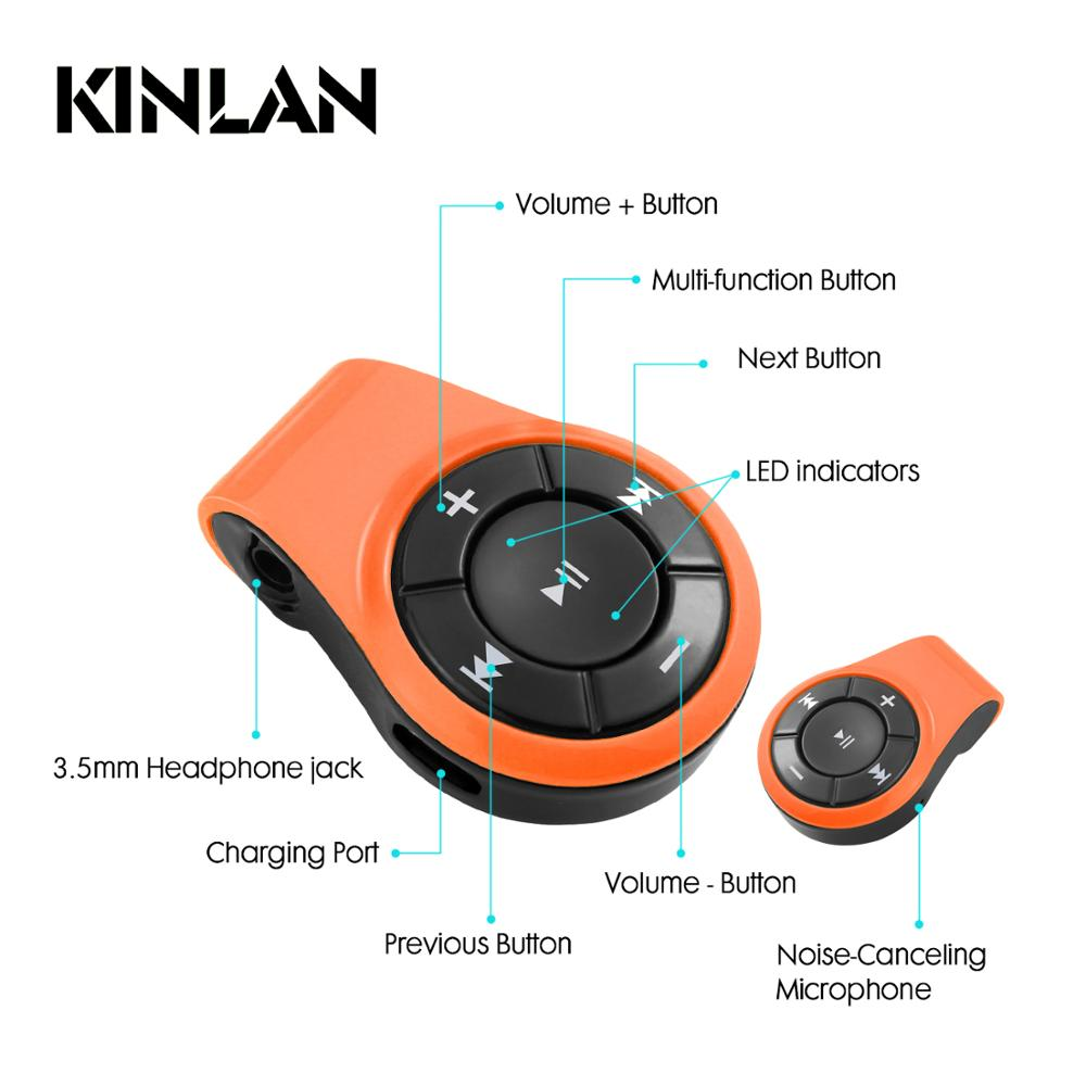 Kinlan Hot selling V4.1 bluetooth receiver car aux connector wireless audio adapter