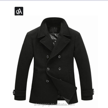 AG-XHNZ4088 Men winter wool peacoat jacket double breasted coat