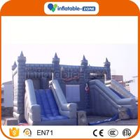10 years factory inflatable super slide cartoon bouncy combo inflatable slide big slides for sale