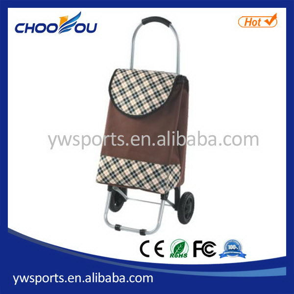 Fashionable promotional two wheel folding shopping trolley