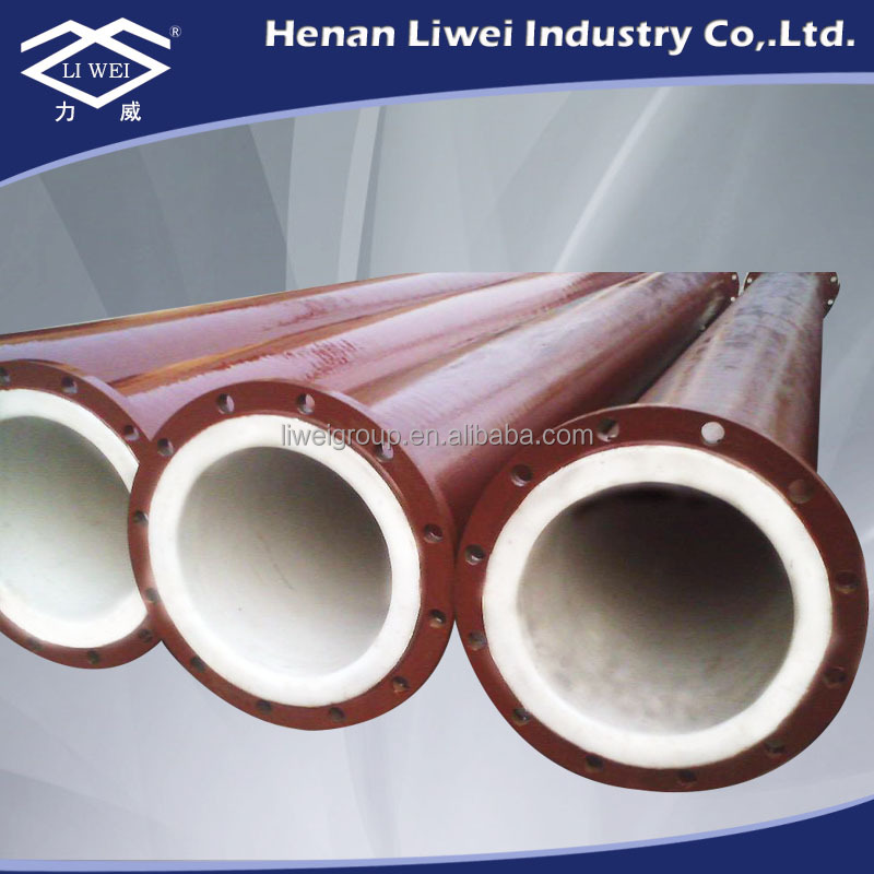 Pn carbon steel plastic ptfe lined coated pipe