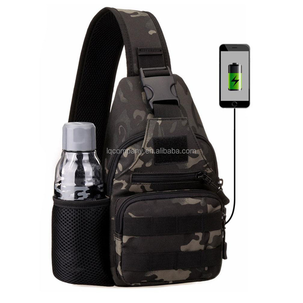 Pocket Chest Bag with  USB Charge