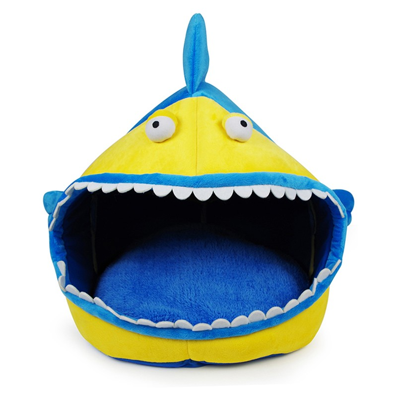 washable shark design pet house bed crib