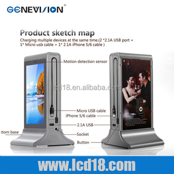 10.1 inch with mobile phone charging Android system Dual core table top two sides digital display