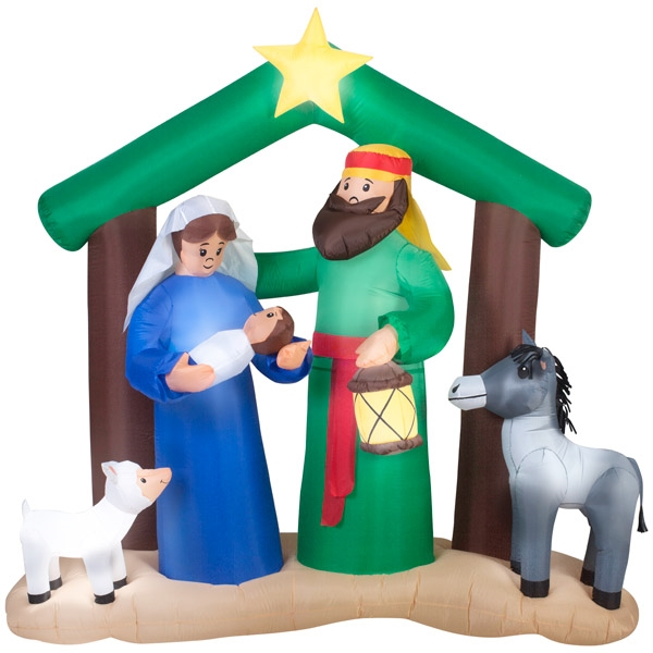 2017 Outdoor christmas ornaments , Yard inflatable decorations , HOLY FAMILY NATIVITY SCENE