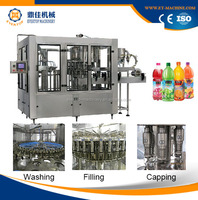 Three-in-One Juice Rinser Filler Capper Filling And Packing Machine