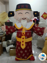 Hot God of fortune mascot costume/Carnival costume on activity